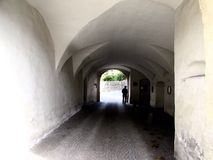 Tunnel. On my way to the túnel stock photography