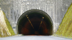 Tunnel in nature. It is under the mountain in nature in Japan Royalty Free Stock Image