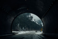 Tunnel Near Black Lamp Post Around Ice Land during Daytime Stock Photos