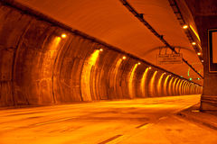 Tunnel nel modo alla spiaggia Fotografia Stock Libera da Diritti