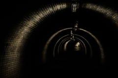 Tunnel nello scuro Fotografie Stock Libere da Diritti