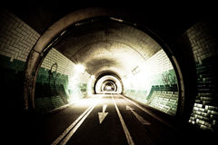 Tunnel by night Royalty Free Stock Photo
