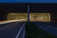 A Tunnel at Night Stock Images