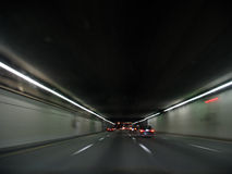 Tunnel at Night Royalty Free Stock Images