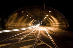 Tunnel at night Royalty Free Stock Photo