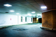 Tunnel at night in Hanover, Pennsylvania. Royalty Free Stock Images
