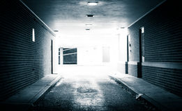 Tunnel at night in Hanover, Pennsylvania. Stock Images