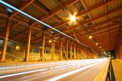 Tunnel at night in Hong Kong Stock Photos