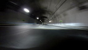 Tunnel at Night. Time Lapse stock footage