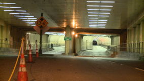 Tunnel at Night - Time Lapse. Time Lapse of a tunnel in San Francisco at night..  Shot with a Sony EX3 stock footage