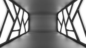 Tunnel noir futuriste avec le backgrou intérieur léger d'avenir de vue illustration de vecteur