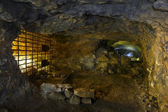 Tunnel with old quarry Stock Photography