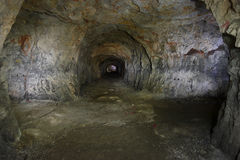 Tunnel old quarry Stock Image