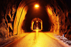 Tunnel old road Royalty Free Stock Photos