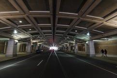 Tunnel onder Philadelphias-Overeenkomstcentrum stock afbeelding