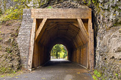 Tunnel on Oneonta Gorge Hiking Trail 2 Royalty Free Stock Photos