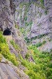 Tunnel op de Noorse bergweg Royalty-vrije Stock Fotografie