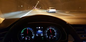Tunnel op Duitse Autobahn stock foto's