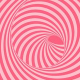 Tunnel. Optical illusion. Abstract striped background. 3D vector. Illustration for design Royalty Free Stock Photo