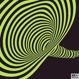 Tunnel. Optical illusion. Abstract striped background. 3D vector illustration for design Royalty Free Stock Photography