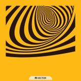 Tunnel Optische illusie Abstracte gestreepte achtergrond 3d vectorillustratie vector illustratie