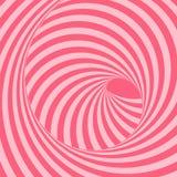 Tunnel Optische Illusion Abstrakter gestreifter Hintergrund Vektor 3d lizenzfreie abbildung