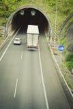 Tunnel på huvudvägen royaltyfria foton
