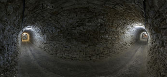 Tunnel panorama Royalty Free Stock Images