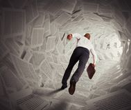 Tunnel of paper Stock Image