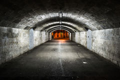 Tunnel passage in GIbraltar Royalty Free Stock Images