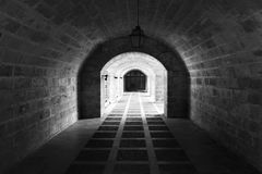 Tunnel into the past. Stock Photos