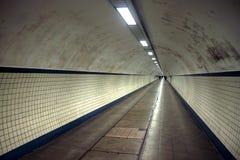 Tunnel pedonale Fotografia Stock