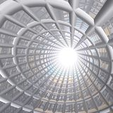 Tunnel Perspective Grid Royalty Free Stock Photos
