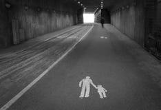 Tunnel piétonnier Image libre de droits