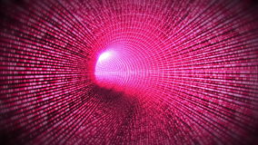 Tunnel of pink light stock footage