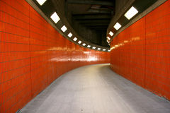 Tunnel piétonnier Photo libre de droits