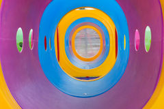 Tunnel of playground equipment in the park Royalty Free Stock Image