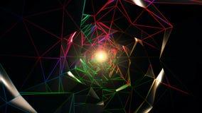 Tunnel polygonal coloré clips vidéos