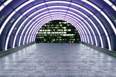Tunnel porpora Fotografia Stock Libera da Diritti