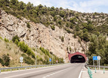 Tunnel of the Pyrenees Royalty Free Stock Image