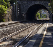 Tunnel of the railway Stock Photography