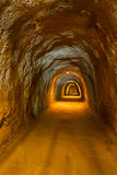 Tunnel in Resort Rafailovici - Montenegro. Architecture and nature background Stock Images