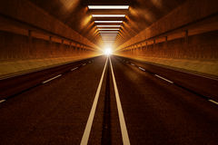 Tunnel road. Stock Photos