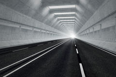 Tunnel road. Royalty Free Stock Photos