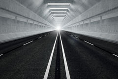 Tunnel road. Royalty Free Stock Photo