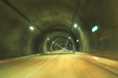 Tunnel road. Tunnel in the high way stock image