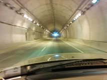 Tunnel road highway Stock Images