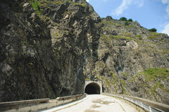 Tunnel Road in Mountain Royalty Free Stock Image