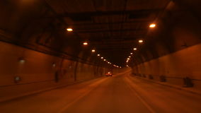 Tunnel road at night. Tunnel road in a city at night stock video