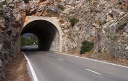 Tunnel on the road - RAW format stock photos